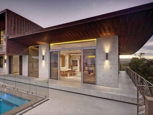 The Honed Concrete Exterior of a Lismore house