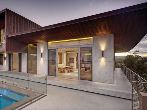 The Honed Concrete Exterior of a Byron Bay house