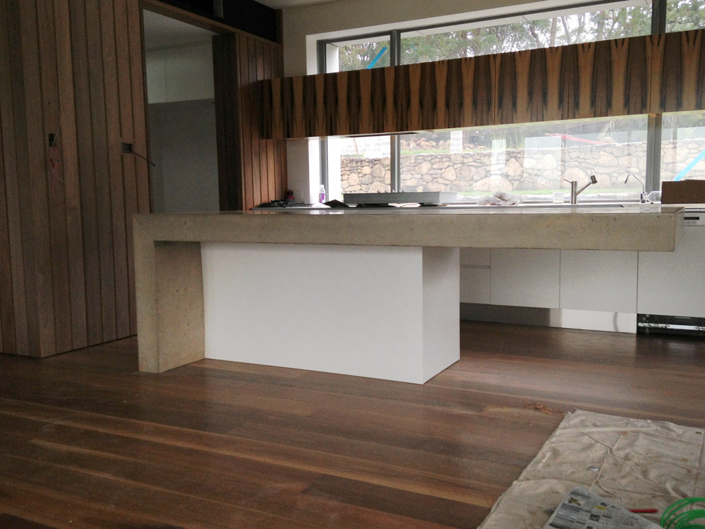 Polished Concrete Benchtop Tweed Coast