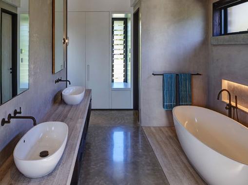 Concrete bathroom benchtop Lismore
