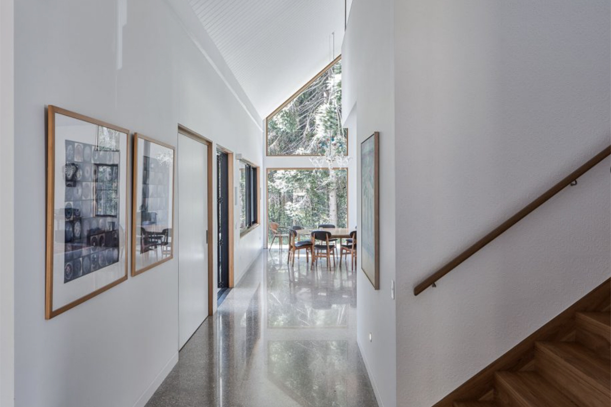 A Polished Concrete Hallway in Northern Rivers